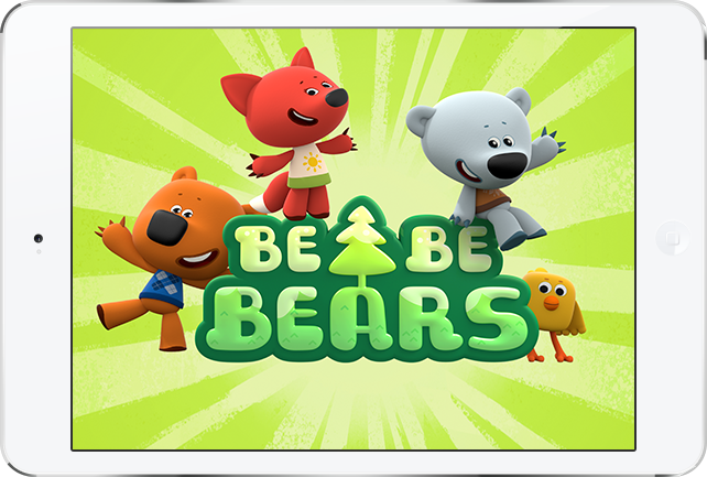 Mobile game app Be-be-bears for iOS and Android